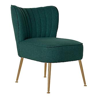 Fåtölj DKD Home Decor Grön Polyester Metall (55 x 64 x 72.5 cm)