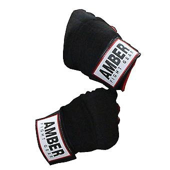 Amber Elasticated Boxing Quick Hand Wraps Inner Gloves Bandages Protector Large