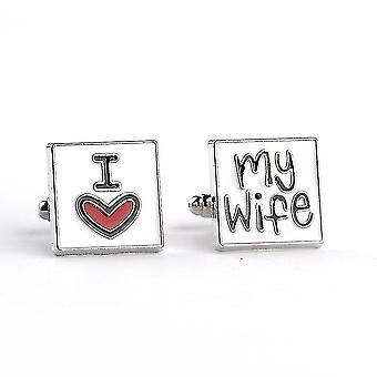 I Love You My Wife Men's Cufflinks Shirts Accessories