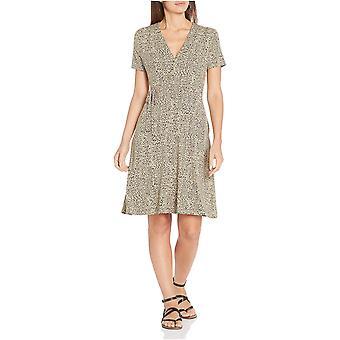 Brand -  Essentials Women's  Cap-Sleeve Faux-wrap Dress