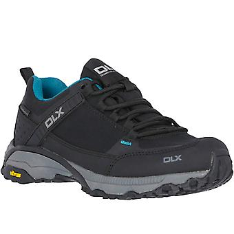 DLX Womens Messal Vibram Waterproof Hiking Walking Boots Shoes - Black