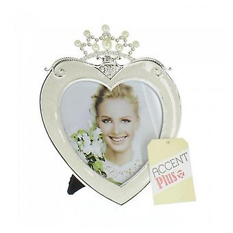 Accent Plus Princess Crown Heart Frame - 5x5, Pack of 1