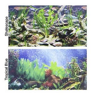 """Penn Plax Double-Back Aquarium Hintergrund - Tropisches Blau / Shalescape - 24 """"Hoch x 48"""" breit - (Passend für 45-120 Gallon tanks)"""