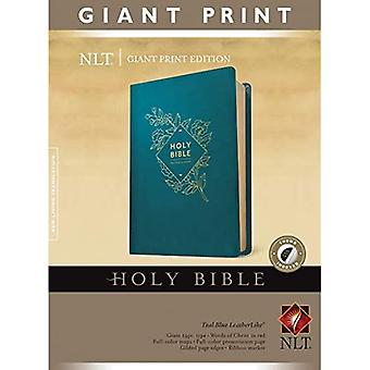 Holy Bible, Giant Print NLT (Red Letter, LeatherLike, Teal B