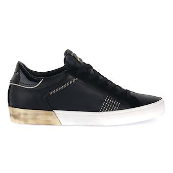 Crime london low top distressed fashion sneakers