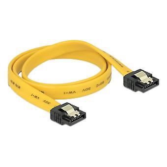 Cable Delock SATA 6Gb/s 50 cm amarillo