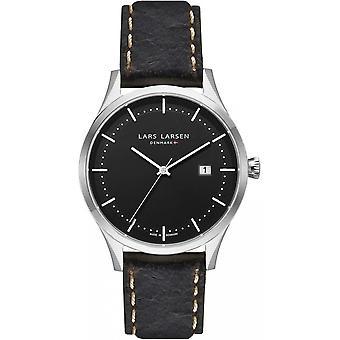 LLarsen (Lars Larsen Brown Genuine Leather) 119SBDBL Men's Watch
