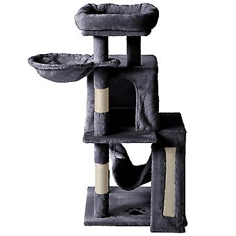 Small Cat Tree Towers Cat Condo With Platform, Hammock And Scratching Posts