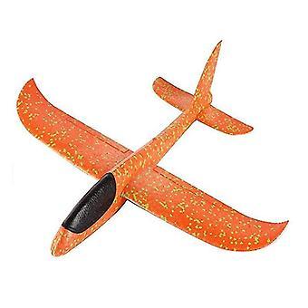 Diy niños tirando a mano avión volador planeador de juego (30cm naranja)
