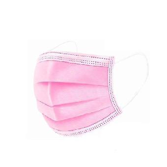 Máscaras faciais não tecidas de 3 camadas, anti-poeira, descartáveis (10pcs Pink)
