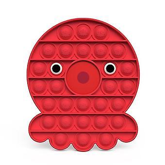 Pop it fidget giocattoli sensoriali sollievo per lo stress e l'ansia (U - Rosso)