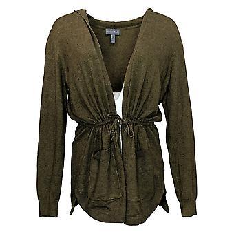 ModernSoul Women's Sweater Spacedye Tie-Front Cardigan Green 681524