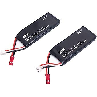 2 Battery parts 7.4v 610mah li-poli for hubsan h502s h502e plus rc drone spare parts