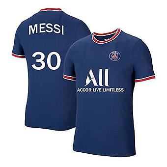 Hot Sale Mens #30 Messi 2021-2022 New Season Psg Football Jersey Soccer T-shirts Ligue Patch S-xxl