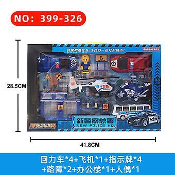 Engineering Fleet Fire Truck Airplane Model Set