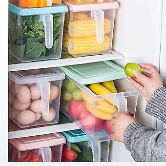 Stapelbare Kunststoff-Lebensmittel-Lagerbehälter mit Griffen für Küche Speisekammer, Schrank, Kühlschrank