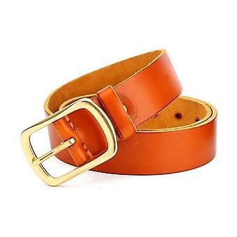 Echtes Leder Kuhhaut Kupfer Bukcle Pin Gürtel für Männer Hohe Qualität