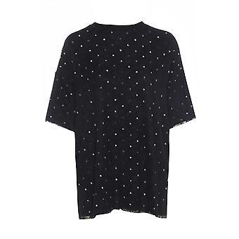 Savida Oversize-Spitze und Polka Dot T-Shirt UK Größe 10