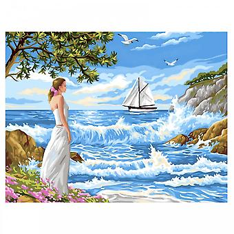 Sequin Art Whispering Shores Large Painting By Numbers