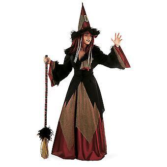 Heks datsja dames kostuum tovenares Mage forest fairy dames kostuum