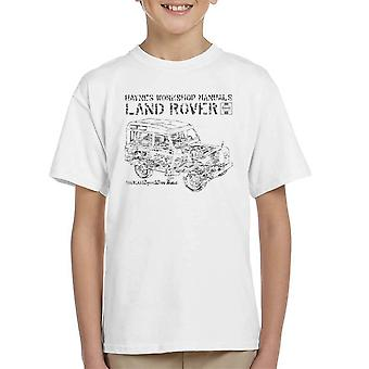 Haynes Workshop Manual Land Rover Camo Black Kid's T-Shirt