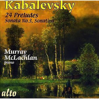 D. Kabalevsky - Kabalevsky: 24 Preludes; Sonata No. 3; Sonatina [CD] USA import