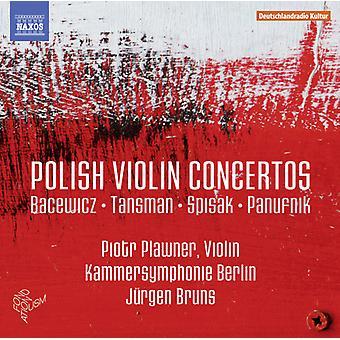 Bacewicz / Tansman / Piotr Plawner - polacco Violin Concertos [CD] USA import