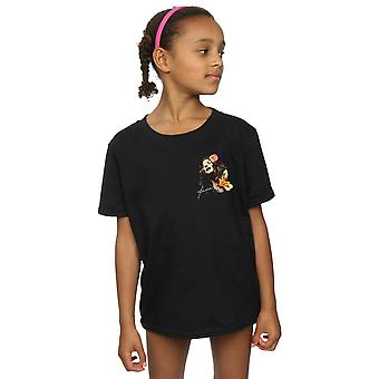 Janis Joplin Girls Floral Faux Pocket T-Shirt