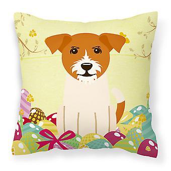 Wielkanocne jaja Jack Russell Terrier tkaniny dekoracyjne poduszki