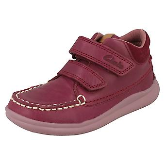 Girls Clarks Casual Ankle Boots Cloud Mist
