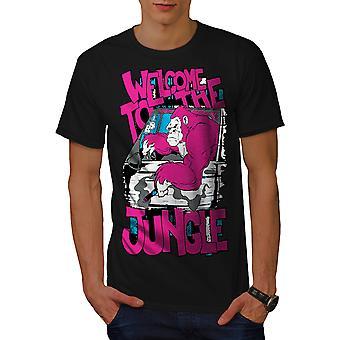 Witamy w dżungli zwierząt BlackT koszul   Wellcoda