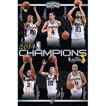 2014 San Antonio Spurs NBA finaali - Champs Juliste Tulosta