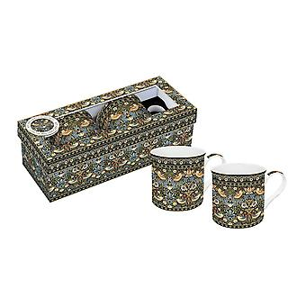 Stow Green Strawberry Thief Set of 2 Porcelain Mugs