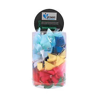 Groom Professional Pack Of 100 5/8 Inch Plain Bows With Tulle