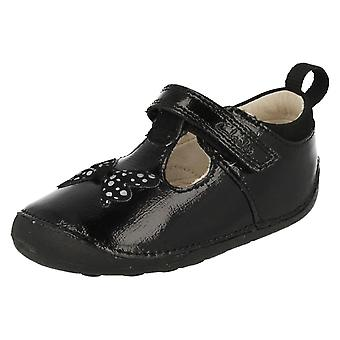 Clarks Girls T-Bar Shoes Ida Sparkle