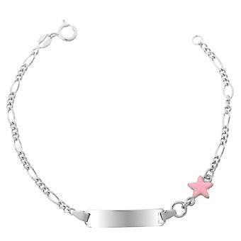 Orphelia Silber 925 Kinder Armband Pink Sterne ZA-7138