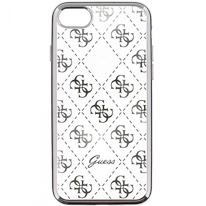 Guess Hard Cover case transparent / gold for iPhone 6 6S