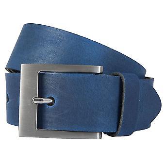 BERND GÖTZ belts men's belts leather belt can be shortened blue 163