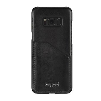 Bugatti snap case Londra cover for Samsung Galaxy S8 + cow leather cover case black