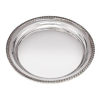 Small Gadroon Rim Pewter Tray