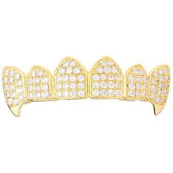 Grillz - gold - één maat past iedereen - VAMPIEREN cubic ZIRCONIA top