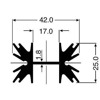 Fischer Elektronik SK 129 38,1 STS Disipador de calor pin 5 K/W (L x An x H) 38 x 42 x 25 mm A 220, SOT 32