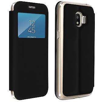 Venster flip case, flip wallet case met standaard voor Galaxy Grand Prime Pro - zwart
