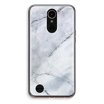 LG K10 (2018) Transparent fodral (Soft) - marmor vit
