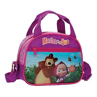 Bolso cosmético del bolso cosmético Masha y el oso