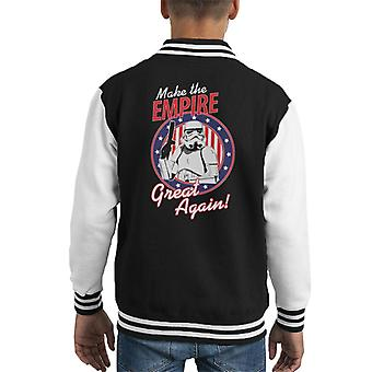 Original Stormtrooper Make The Empire Great Again Kid's Varsity Jacket