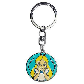 Alice stampato trailer di Alice in Wonderland chiave, argento, metallo