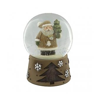 Cute Father Christmas Snow Globe