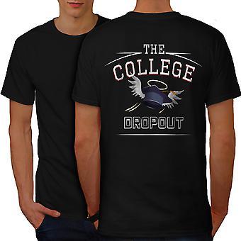 College Dropout Funy Men BlackT-shirt Back | Wellcoda
