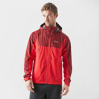 New Gore R3 Men's Gore-Tex Active Hooded Long Sleeve Jacket Red